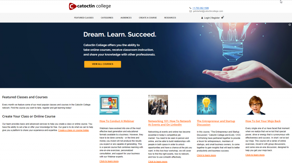 Catoctin College: Dream. Learn. Succeed.